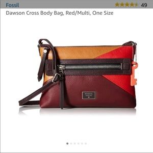 Fossil Dawson crossbody messenger zip
